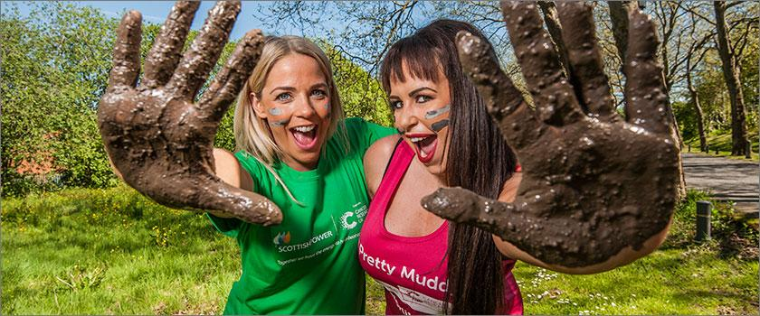 Cat Cubie supports ScottishPower employees getting muddy for Cancer Research UK's Race for Life