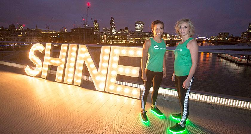 Dame Kelly Holmes helps ScottishPower employee 'Shine' to beat cancer