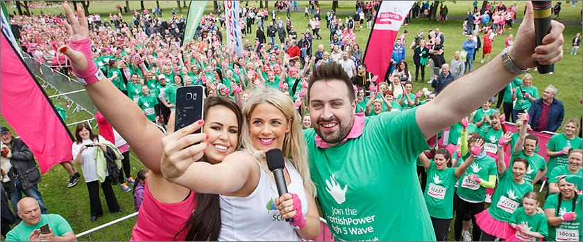 Cat Cubie joins ScottishPower and 6,700 pretty muddy women for Cancer Research UK