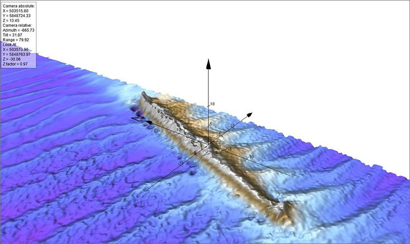 Seabed Scanning for East Anglian windfarm reveals Uncharted WWI German Submarine