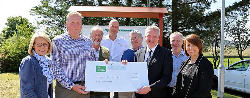 SP Energy Networks has donated £1,000 to the Carsphairn Community Trust following the completion of the work