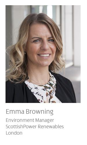 Emma Browning: Environment Manager for ScottishPower Renewables, London