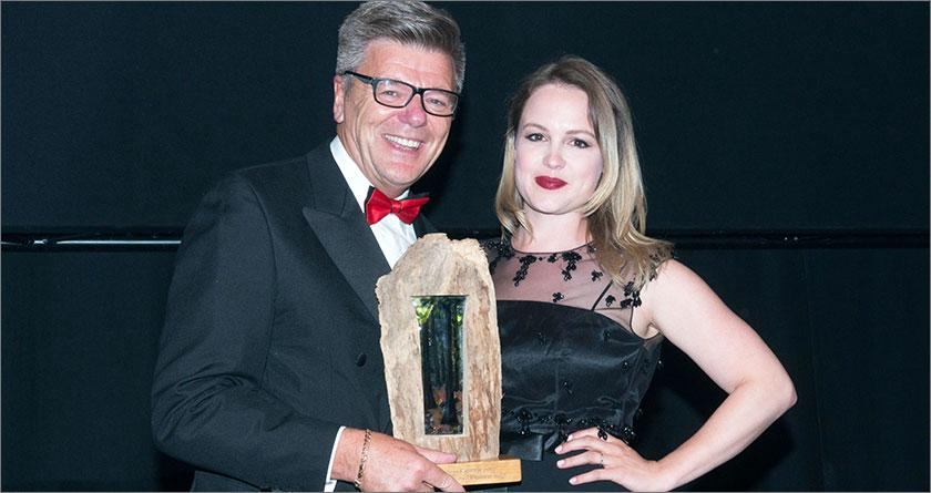 Business Company of the Year winners - ScottishPower Foundation – presented by Kimberley Nixon, actress from Cranford