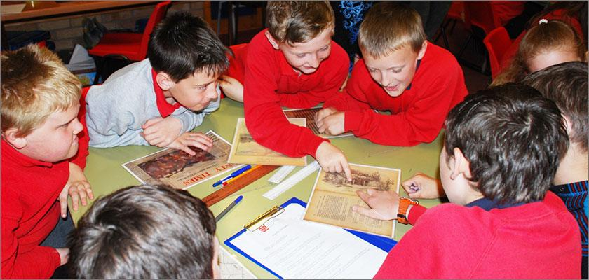 Medieval Wales brought vividly to life for pupils thanks to National Library Outreach Project